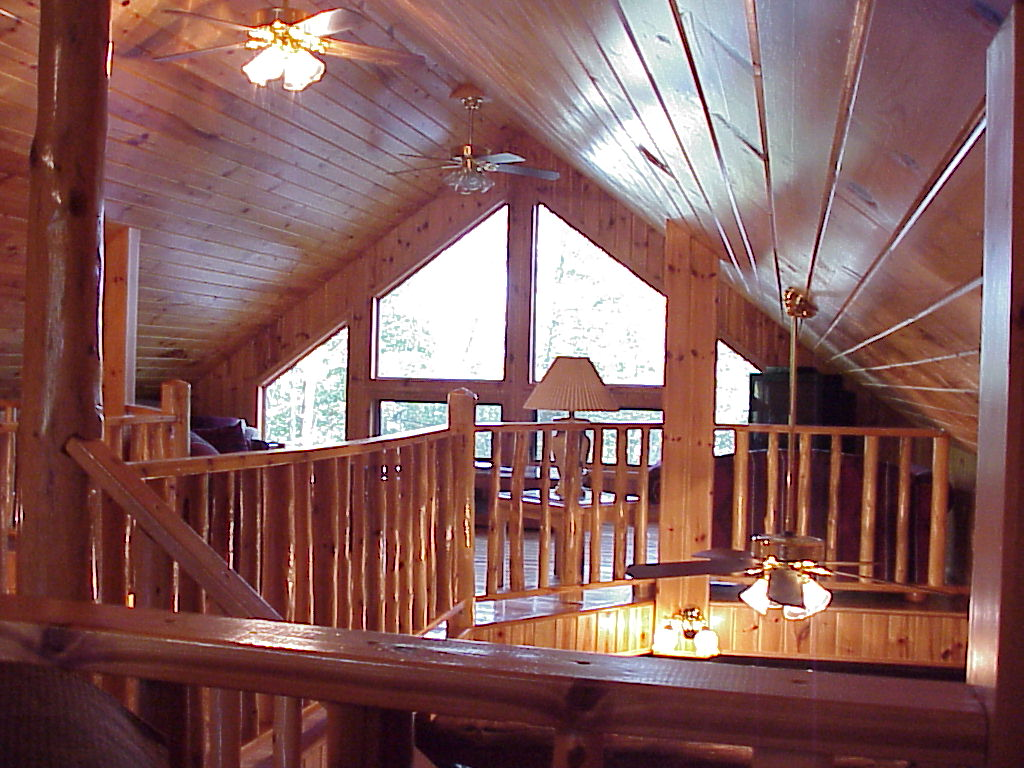 Loft of private log cabin for rent or for sale
